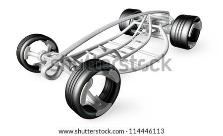 Concept Car Frame Isolated On White Stock Illustration 114446113 ...