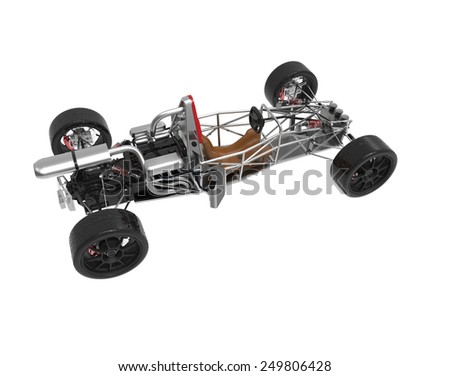 Concept Car Frame Isolated On White Stock Illustration 249806428 ...
