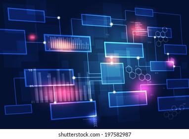 concept communication business chart dark blue background