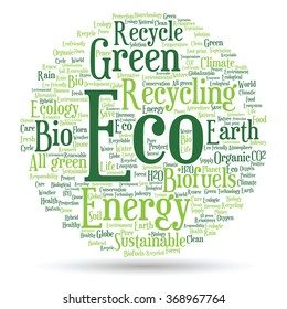 Concept Conceptual Abstract Green Ecology Conservation Stock