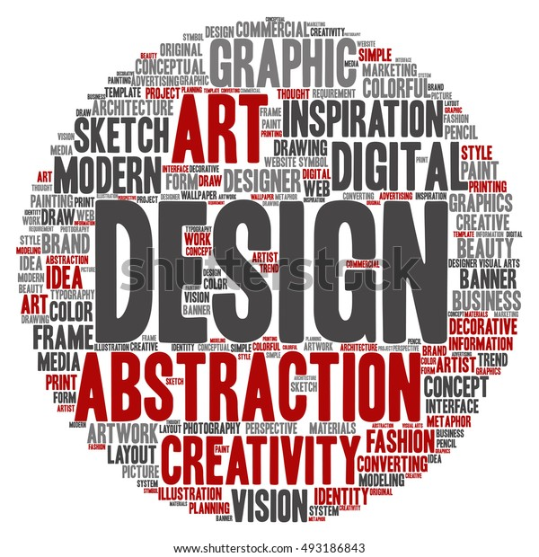 Concept or conceptual creativity art graphic design circle word cloud isolated on background metaphor to advertising, decorative, fashion, identity, inspiration, vision, perspective or modeling