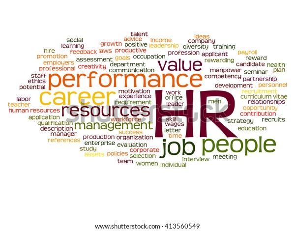 Concept Conceptual Hr Human Resources Management Stock