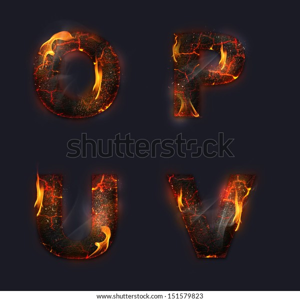 Concept Conceptual Red Burning Fire Fonts Stock Illustration 151579823