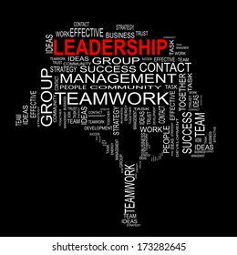 Concept or conceptual white text word cloud or tagcloud isolated on black background, metaphor for business, team, teamwork, management, effective, success, communication, company, group or symbol