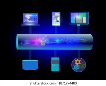 Concept of Data streaming, big data generated in high speed as streams by different sources, and other side data consumers uses streams incrementally and process in Realtime to produce result