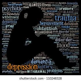 Concept of depression: text graphics