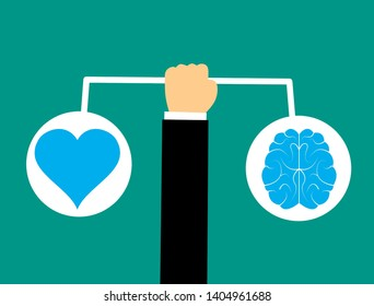 concept design of balancing between heart and mind