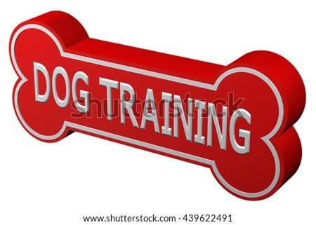 Concept Dog Training Dog Bone Words Stock Illustration