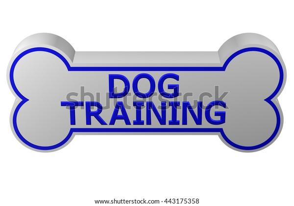 Concept Dog Training Dog Bone Words Stock Illustration 443175358