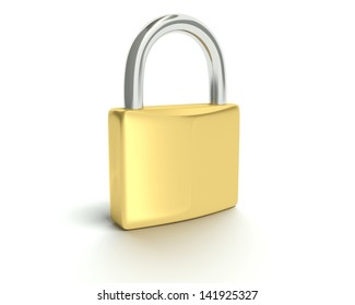 A concept graphic depicting a folder/file security concept. Rendered against a white background with a soft shadow and reflection.