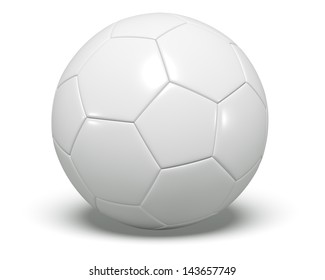 A concept graphic depicting a football/soccer ball concept. Rendered against a white background with a soft shadow and reflection.