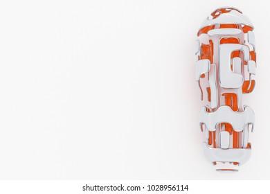 Concept of Hi-Tech Technology. 3D Rendering Abstarct Futuristick Background