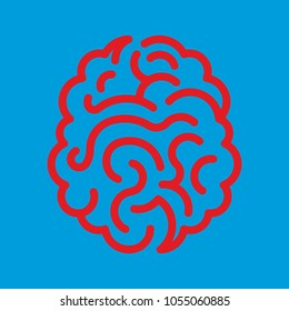 Concept of human brain, illustration.Brainstorming creative idea. Innovation and solution. Abstract brain with labyrinth. illustration.