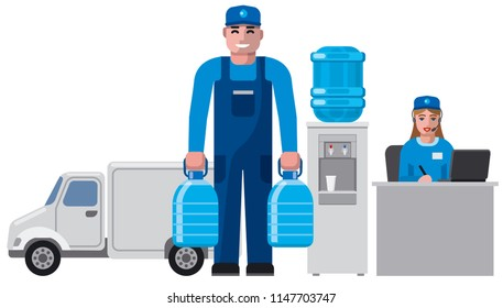 concept illustration of clean water delivery service