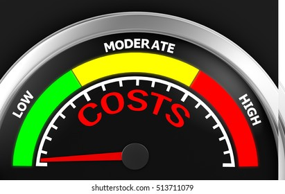 Concept image for illustration of costs in the low meter , 3d rendering