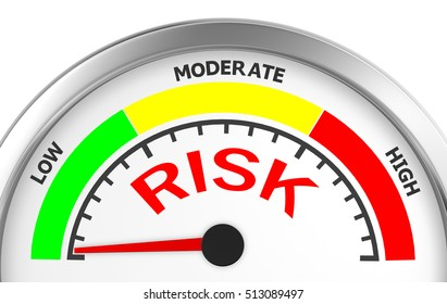 Concept image for illustration of risk in the low meter , 3d rendering