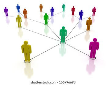 Concept image representing network, networking, connection, social network, communications