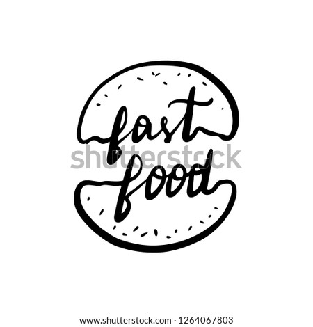 Royalty Free Stock Illustration Of Concept Lettering Logo Fast Food