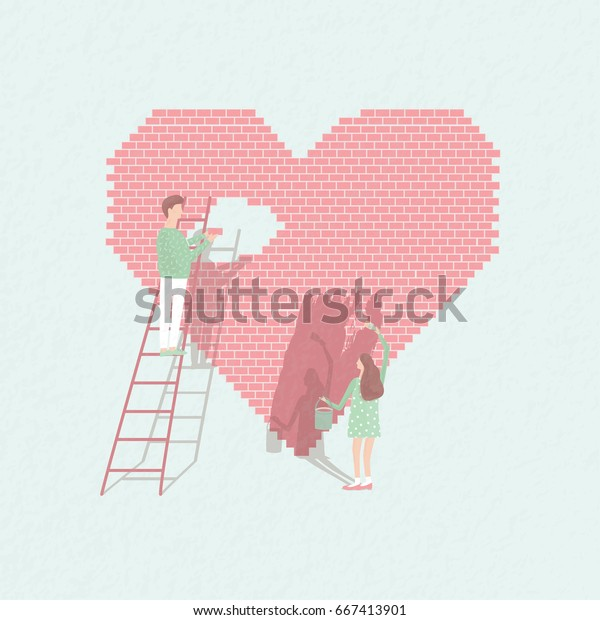 Ilustracoes Stock Imagens E Vetores De Conceito Amor E Trabalho