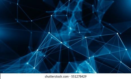 Concept of Network, internet communication - 3d illustration