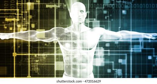 Concept for New Technology Corporate Business Development Art 3D Illustration Render