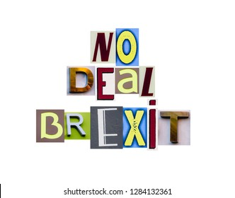 Concept No deal Brexit.