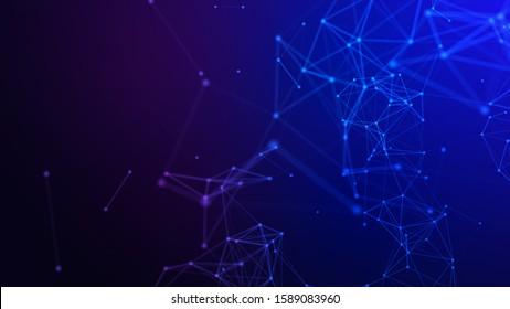 Concept plexus of Network background, connection line. 3d illustration.