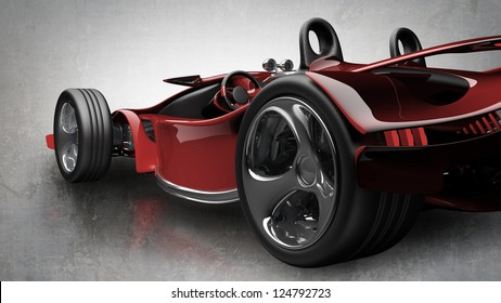 Concept. red sport car (No trademark. it is design and the 3d model completely exclusive it is developed and made personally me) High resolution 3d render
