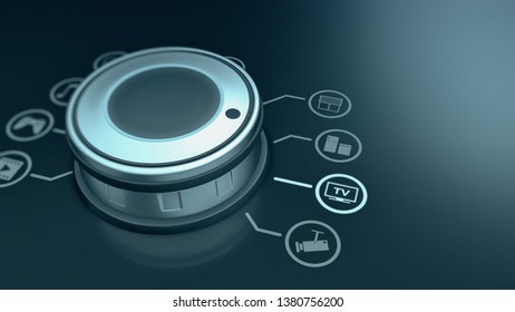 concept of a smart home control panel, iot and futuristic techs (3d render)