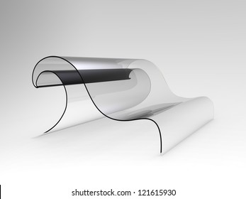 Concept sofa shaped as a wave
