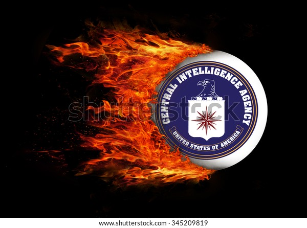 Concept of speed - Flag with a trail of fire - CIA