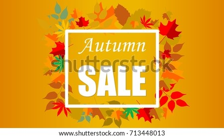 conceptual autumn sale banner fall leavesのイラスト素材 713448013