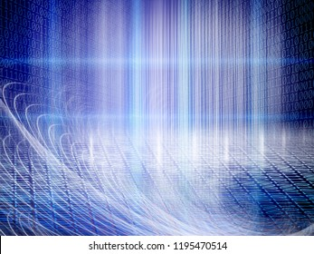 conceptual background image of binary code and abstract lights of technology