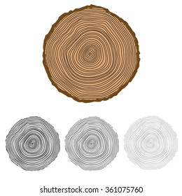 conceptual background with tree-rings Tree cut Stump Snag.