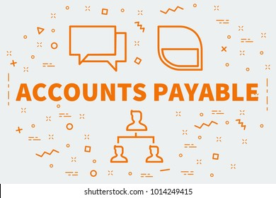 Conceptual business illustration with the words accounts payable