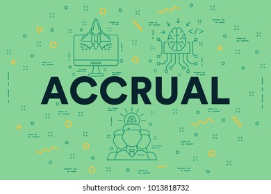 Conceptual business illustration with the words accrual