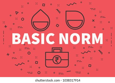 Conceptual business illustration with the words basic norm