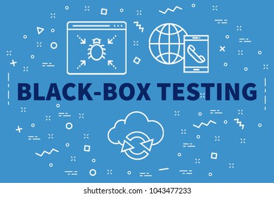 Conceptual business illustration with the words black-box testing