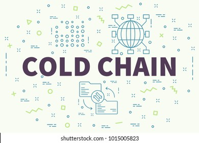 Conceptual business illustration with the words cold chain