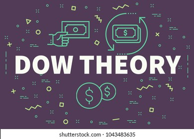 Conceptual business illustration with the words dow theory