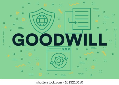 Conceptual business illustration with the words goodwill