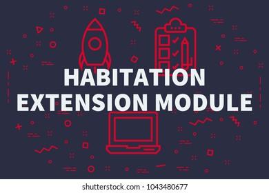 Extension Habitation habitation extension module images, stock photos & vectors