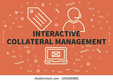 Conceptual business illustration with the words interactive collateral management