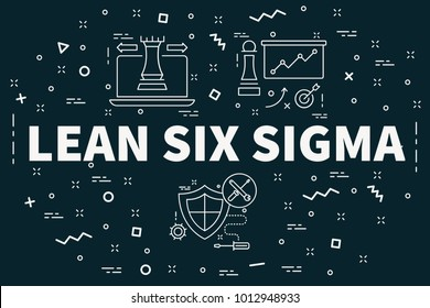 Conceptual business illustration with the words lean six sigma