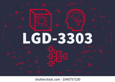 Conceptual business illustration with the words lgd-3303
