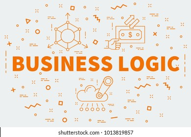 Conceptual business illustration with the words business logic