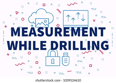 Conceptual business illustration with the words measurement while drilling