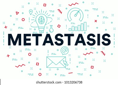 Conceptual business illustration with the words metastasis