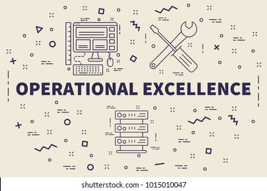 Conceptual business illustration with the words operational excellence