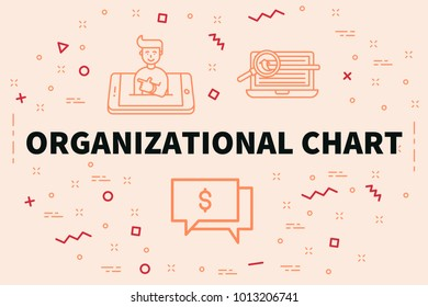 Conceptual business illustration with the words organizational chart